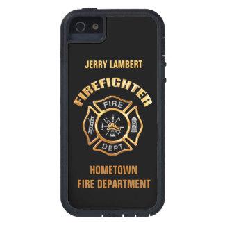 消防署の金ゴールドの名前のテンプレート iPhone SE/5/5s ケース
