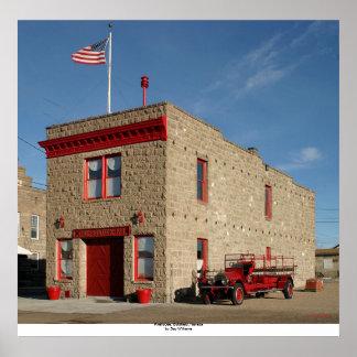 消防署、Goldfield、ネバダ ポスター