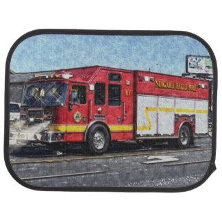 消防車のトラック、消防士の大きい装備 カーマット