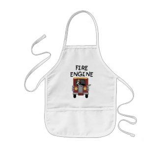 消防車のTシャツおよびギフト 子供用エプロン