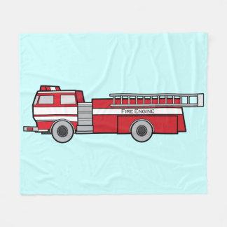 消防車 フリースブランケット