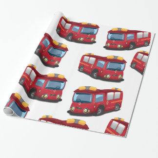 消防車 包み紙
