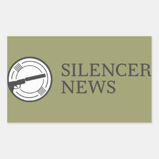 消音装置のニュースの長方形のデカール 長方形シール