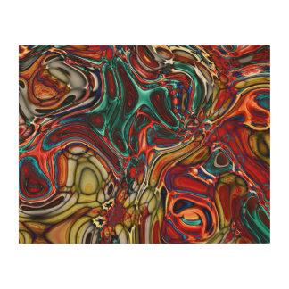 液体のサイファイの抽象芸術 ウッドウォールアート