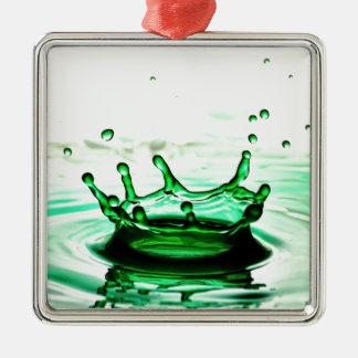 液体の写真撮影-しぶき メタルオーナメント