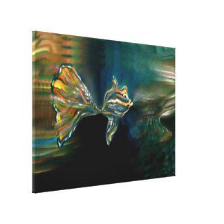 液体の振動ファンキーな魚のキャンバスプリントのプリント キャンバスプリント