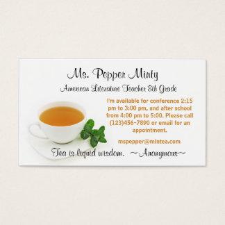 液体の知恵の先生情報お茶 名刺