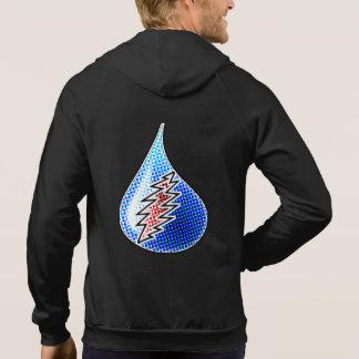 液体の稲妻の袖なしのフード付きスウェットシャツ パーカ