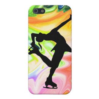 液体の虹及びスケート選手 iPhone 5 カバー