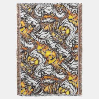 液体の金ゴールドの抽象芸術パターン-ノートを見て下さい スローブランケット