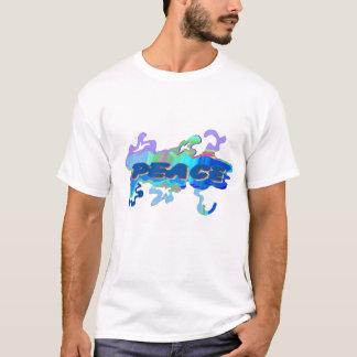 液体の青い平和 Tシャツ