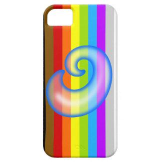 液体の青Oの手紙のiPhone 5/5Sの場合 iPhone SE/5/5s ケース