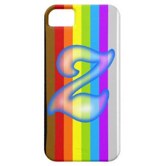 液体の青Zの手紙のiPhone 5/5Sの場合 iPhone SE/5/5s ケース