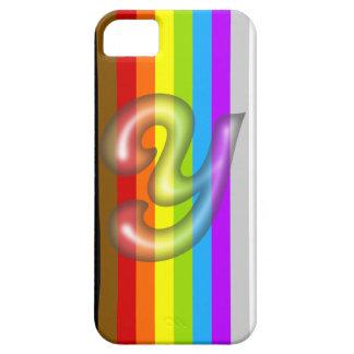 液体の黒Yの手紙のiPhone 5/5Sの場合 iPhone SE/5/5s ケース