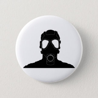 涼しいガスマスク 5.7CM 丸型バッジ