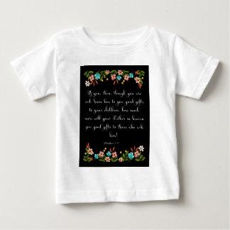 涼しいキリスト教の芸術- Matthewの7:11 ベビーTシャツ