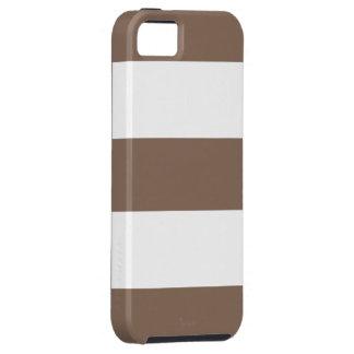 涼しいココア砂及び白のストライプなiPhone 5の場合のギフト iPhone SE/5/5s ケース