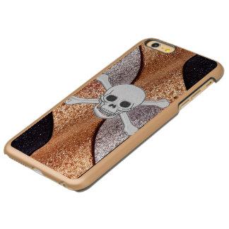 涼しいスカルのIncipioの贅沢なiPhoneの場合 Incipio Feather Shine iPhone 6 Plusケース