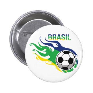 涼しいブラジルFutebol 5.7cm 丸型バッジ