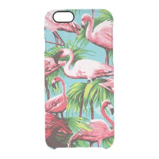 涼しいレトロのピンクのフラミンゴ クリアiPhone 6/6Sケース
