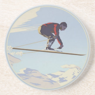 涼しいヴィンテージのスキープリントが付いているコースター コースター
