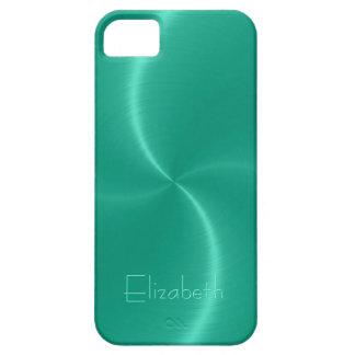 涼しい光沢がある放射状の鋼鉄金属 iPhone SE/5/5s ケース