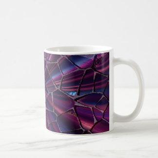涼しい割れた紫色のマグ コーヒーマグカップ