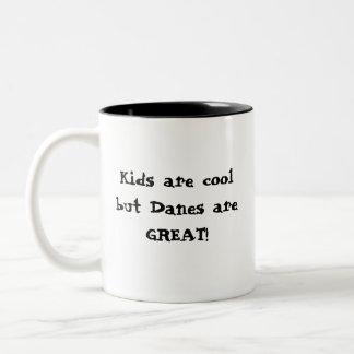 涼しい子供、グレートデーン ツートーンマグカップ