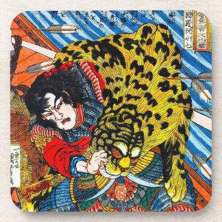 涼しい日本の伝説の英雄の戦士のトラの戦い コースター