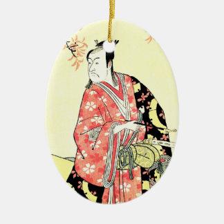 涼しい東洋の伝統的で日本のな武士の芸術 セラミックオーナメント