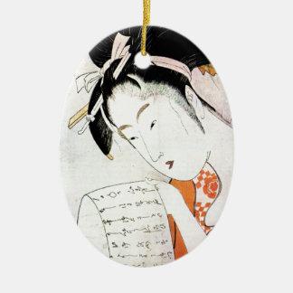 涼しい東洋の伝統的で日本のな芸者の芸術 セラミックオーナメント