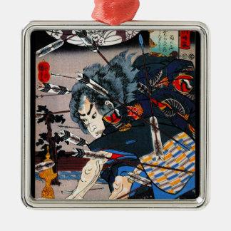 涼しい東洋の伝統的な日本の武士の戦士 メタルオーナメント