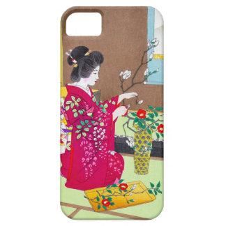 涼しい東洋の伝統的な日本の芸者の女性芸術 iPhone SE/5/5s ケース