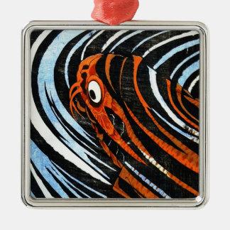 涼しい東洋の古代伝説のコイの魚のコイの芸術 メタルオーナメント