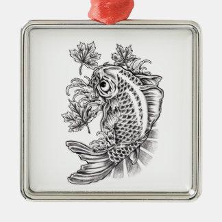 涼しい東洋の日本のなコイの魚のコイの入れ墨 メタルオーナメント