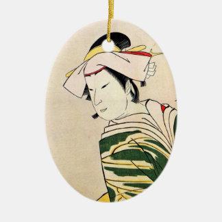 涼しい東洋の日本のな芸者の入れ墨の芸術 セラミックオーナメント