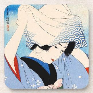 涼しい東洋の日本のクラシックな女性芸術 コースター
