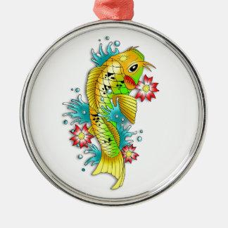 涼しい東洋の日本の虹のコイのコイの魚 メタルオーナメント