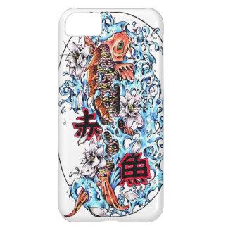 涼しい東洋の日本の赤いインク幸運なコイの魚 iPhone5Cケース