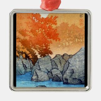 涼しい東洋の日本人のHasu Kawaseの川の石 メタルオーナメント