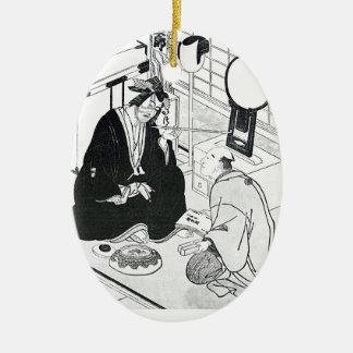涼しい東洋の芸術の伝統的で日本のなインク セラミックオーナメント