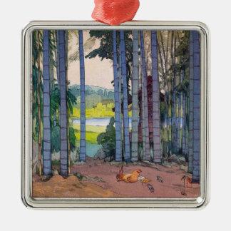 涼しい東洋のjapanseの吉田のタケ森林芸術 メタルオーナメント