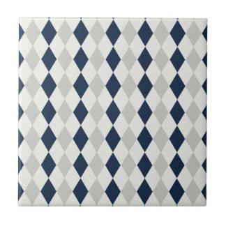 涼しい濃紺および灰色のアーガイル柄のなダイヤモンドパターン タイル
