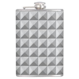 涼しい灰色の金属のピラミッドパターン フラスク