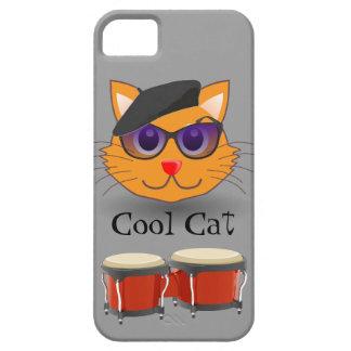 涼しい猫のベレー帽のボンゴのBeanikの情報通の世代別レトロ iPhone SE/5/5s ケース