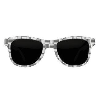 涼しい白黒の織り方パターンか習慣色 サングラス