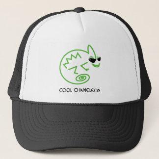 涼しい緑のカメレオン キャップ