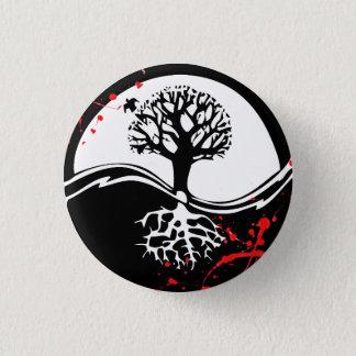 涼しい血の(ばちゃばちゃ)跳ねるの陰陽の木の入れ墨の芸術 缶バッジ