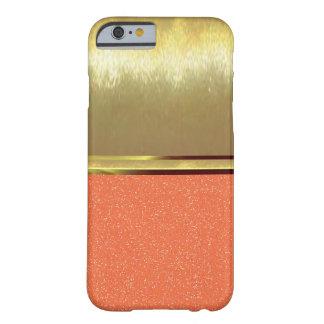 涼しい輝きパターン金ゴールドの質のiPhone 6 Barely There iPhone 6 ケース