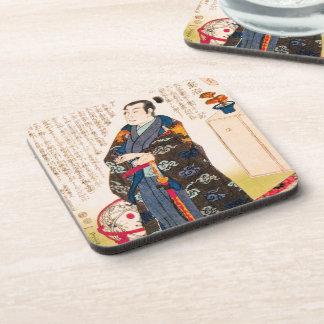 涼しくクラシックな東洋の日本の武士の芸術 コースター